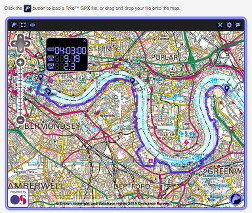 Thames Walk on OS Maps